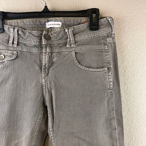 Anthropologie Sage Green Vintage Slim Jeans Pants